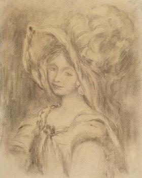 Mme Dieterle in a Hat, c.1896 Reprodukcija