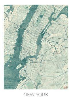 Zemljevid New York