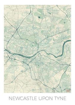 Zemljevid Newcastle Upon Tyne