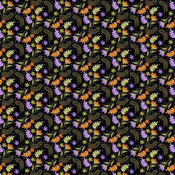 Night Leaves pattern Reprodukcija