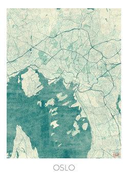 Zemljevid Oslo