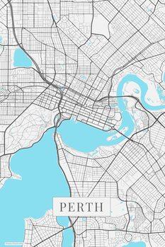 Zemljevid Perth white