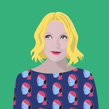 Portrait of Lauren Laverne Reprodukcija