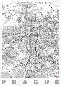 Zemljevid Prague