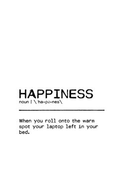 Ilustracija Quote Happiness Laptop