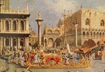 Return of the Bucintoro on Ascension Day (oil on canvas) Reprodukcija