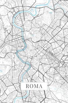 Zemljevid Roma white