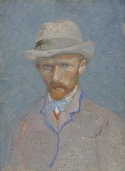 Self-Portrait with gray felt hat, 1887 Reprodukcija
