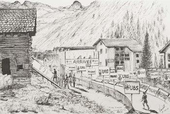 Sierre to Zinal Mountain Race, The Finish, 2009, Reprodukcija