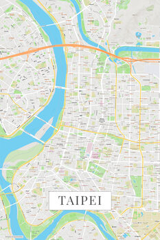 Zemljevid Taipei color