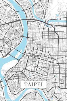 Zemljevid Taipei white