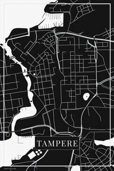 Zemljevid Tampere black