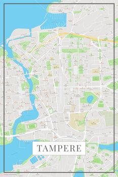 Zemljevid Tampere color