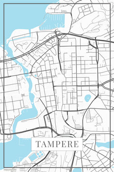 Zemljevid Tampere white