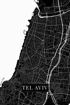 Zemljevid Tel Aviv black