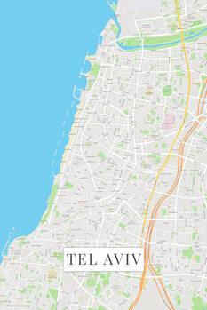 Zemljevid Tel Aviv color