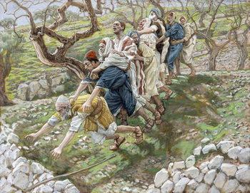 The Blind Leading the Blind, illustration for 'The Life of Christ', c.1886-94 Reprodukcija