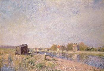 The Loing at Saint-Mammes, 1884 Reprodukcija