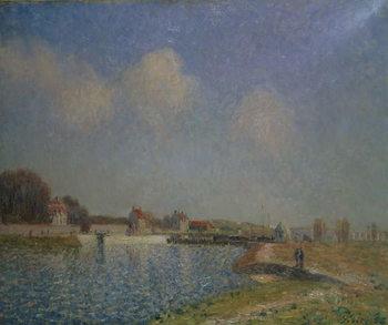 The Loing at Saint-Mammes, 1885 Reprodukcija