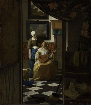 The Love Letter, c.1669-70 Reprodukcija