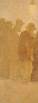 The Mouthful of Bread, Waiting in Line, study for 'Charity', 1892-1908 Reprodukcija