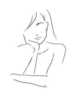 Ilustracija Thinking