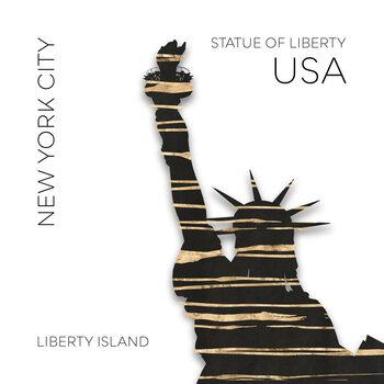 Ilustracija Urban Art NYC Statue of Liberty