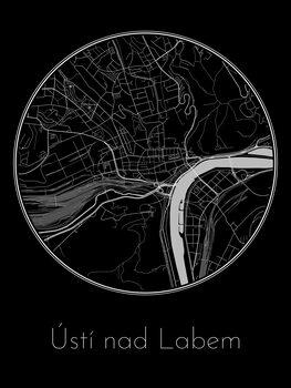 Zemljevid Ústí nad Labem