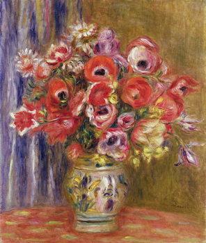 Vase of Tulips and Anemones, c.1895 Reprodukcija
