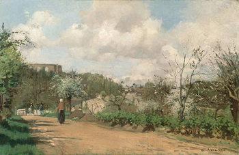 View from Louveciennes, 1869-70 Reprodukcija