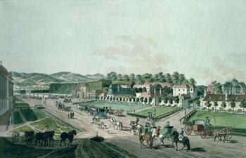 View of the Augarten Palace and Park, Vienna Reprodukcija