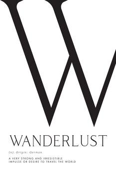 Ilustracija Wanderlust definition typography art