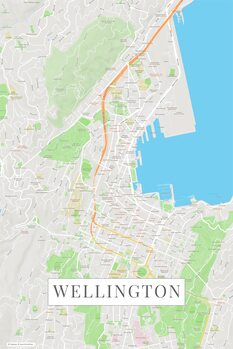 Zemljevid Wellington color