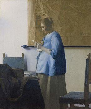 Woman Reading a Letter, c.1662-63 Reprodukcija