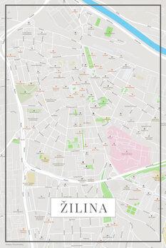 Zemljevid Žilina color