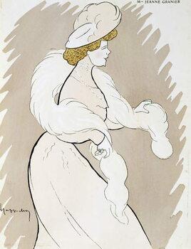 Actress Jeanne Granier (1852-1939), drawing by Leonetto Cappiello Reprodukcija