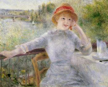 Alphonsine Fournaise (1845-1937) at The Grenouillere, 1879 Reprodukcija