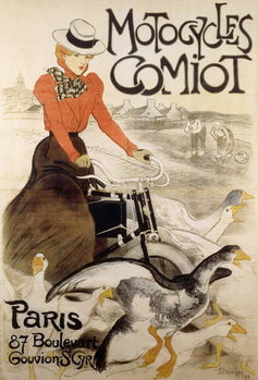 An advertising poster for 'Motorcycles Comiot', 1899 Reprodukcija