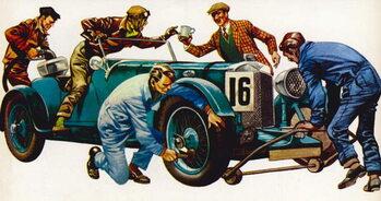 An Aston Martin racing car, vintage 1932, which won many races Reprodukcija