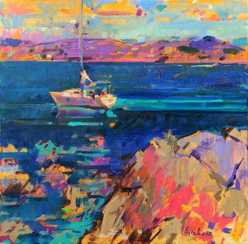 At Anchor, St Tropez Coast Reprodukcija