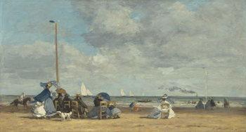 Beach at Trouville, 1864-5 Reprodukcija