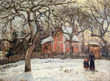 Chestnut Trees at Louveciennes, c.1871-2 Reprodukcija