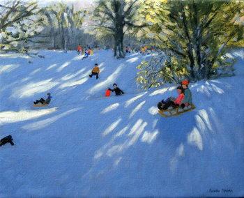 Early snow, Darley Park, Derby Reprodukcija
