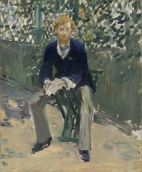 George Moore in the Artist's Garden, c.1879 Reprodukcija