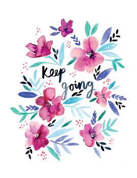 Ilustracija Keep going