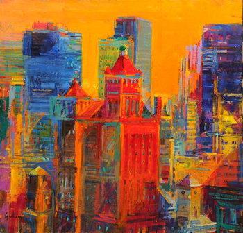 Midtown Manhattan from The Waldorf Reprodukcija