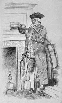 Mynheer's Morning Horn, from Harper's Magazine, 1881 Reprodukcija