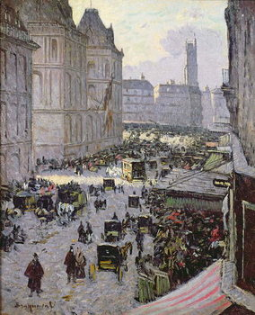 Paris Street Scene Reprodukcija