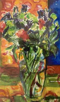 Pattern and Flowers Reprodukcija