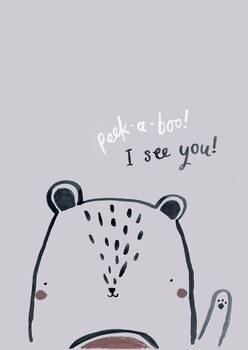 Ilustracija Peek a boo bear